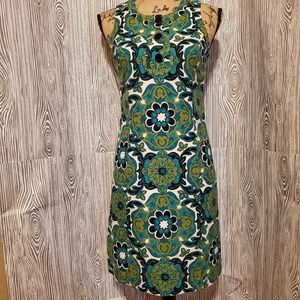 Ann Taylor silk lined retro vibe fitted dress